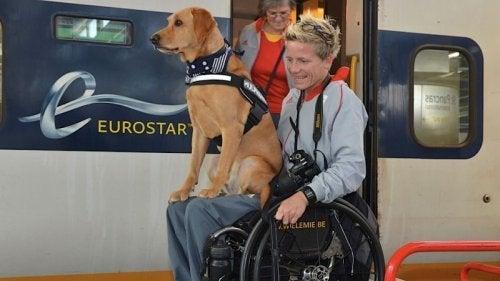 Marieke Vervoort et son chien