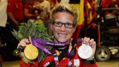 Marieke Vervoort et ses médailles