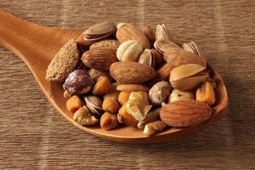 Fruits secs pour renforcer les muscles.