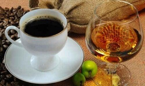 café et alcool