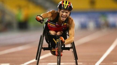 Marieke Vervoort en pleine course