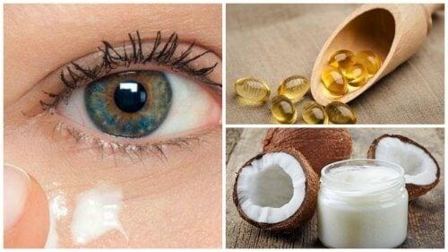 Crème naturelle à l'huile de coco pour rajeunir le contour des yeux