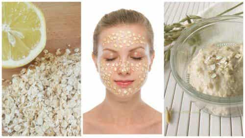 Éclaircissez les taches de votre visage avec ce masque à l'avoine et au citron