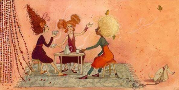 femmes-reunies-prenant-un-cafe