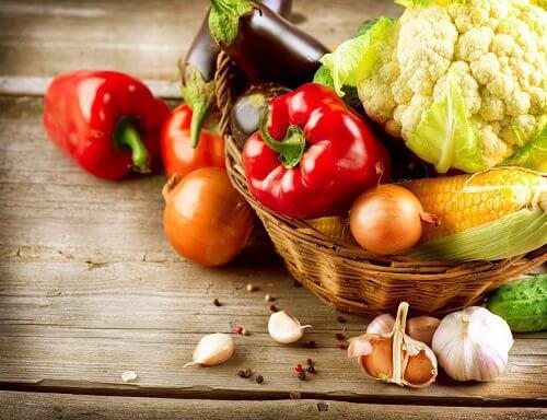 régime avec des légumes organiques
