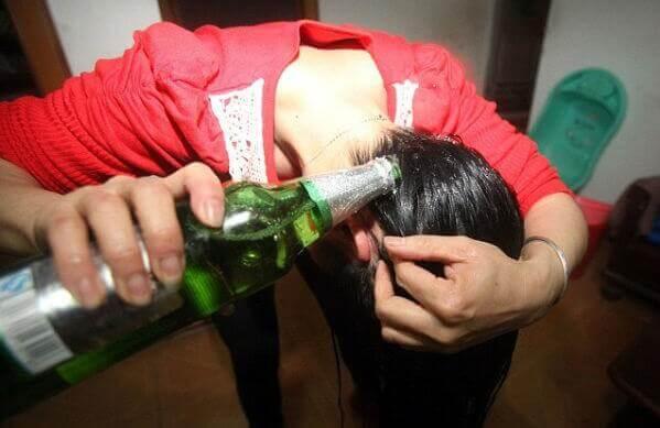 traitement de bière sur les cheveux