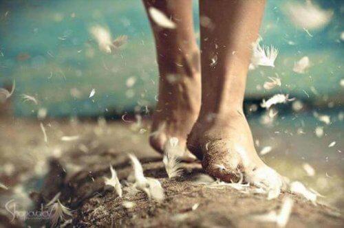Marcher sur le sable