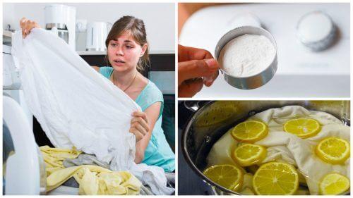5 astuces pour blanchir votre linge blanc jauni