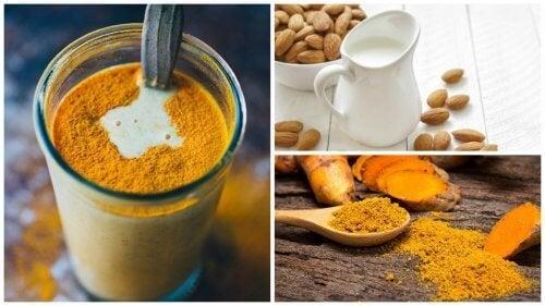 Boisson anti-inflammatoire au curcuma et au lait d'amande