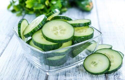 Le concombre pour éliminer les toxines.