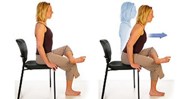 position sur la chaise