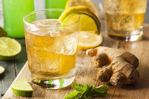 eau citron et gingembre