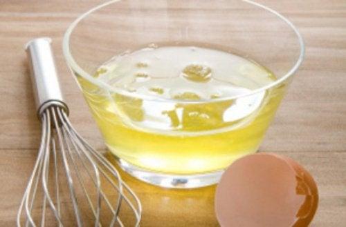 soin au blanc d'œuf