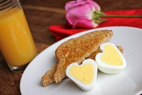 sur le petit-déjeuner