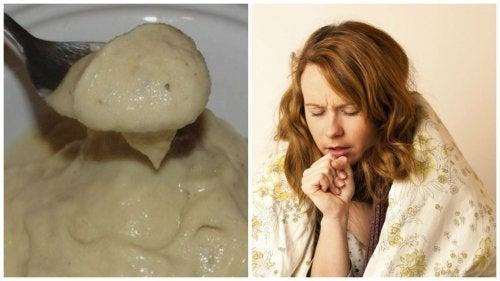 Crème à la banane et au miel pour soulager la toux et les symptômes du rhume