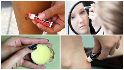 10 usages alternatifs du baume à lèvres