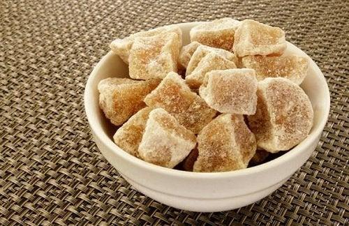 manger du gingembre confit
