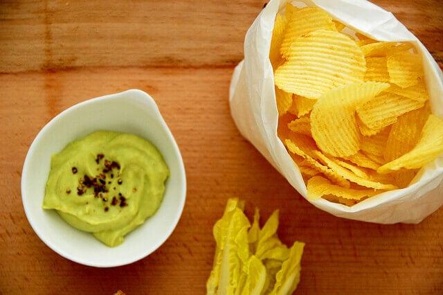 recettes de guacamole : guacamole et lard