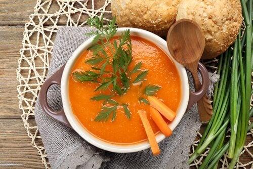 soupe à la carotte et au gingembre