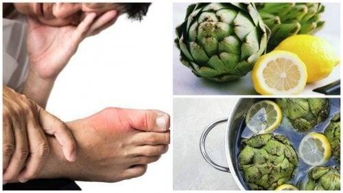 Éliminez l'acide urique grâce à l'eau d'artichaut et de citron