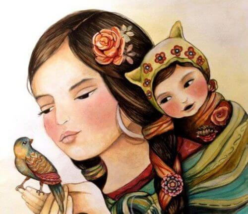 illustration d'une mère et son enfant