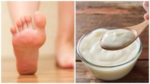 Traitement au yaourt et au vinaigre pour éliminer les callosités des pieds