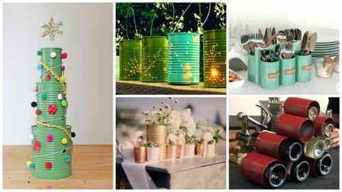 19 manières créatives de recycler les boîtes de conserve