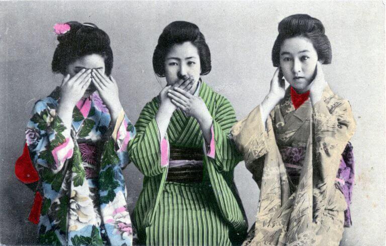 ancienne photographie de japonaises