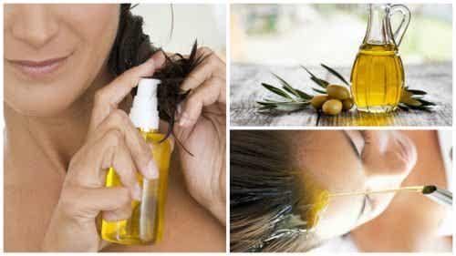 6 manières d'embellir les cheveux avec de l'huile d'olive