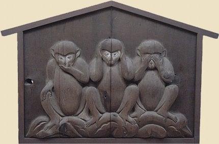 l'histoire des trois singes sages