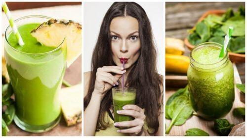 Comment préparer 5 jus verts pour purifier le corps et perdre du poids