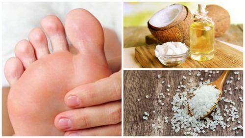 Comment préparer un exfoliant à l'huile de coco et au sel pour enlever les cors aux pieds