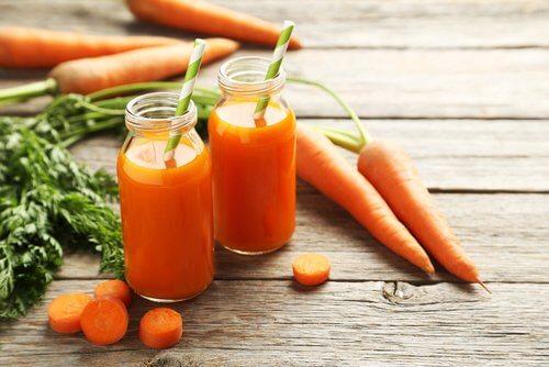 Types de régime détox : régime à la carotte
