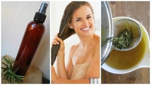 Comment préparer un après-shampooing aux herbes et au vinaigre pour renforcer les cheveux