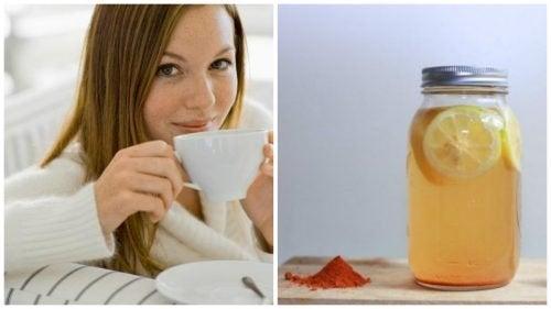 Boisson curcuma et citron pour faire du bien au corps