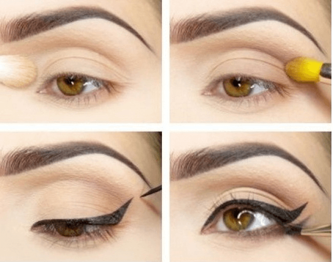 maquillage des yeux : double trait