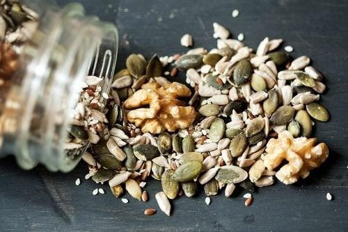 graines utilisées dans la préparation des crackers aux graines