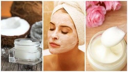Nettoyez les impuretés avec un masque pour le visage