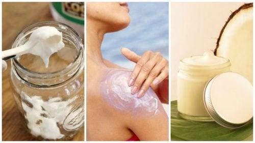 Crème naturelle pour protéger la peau des effets du soleil