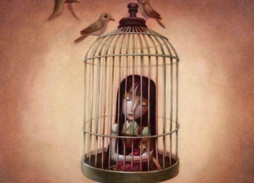 illustration - enfant dans une cage