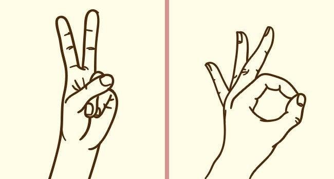 Les signes avec les doigts
