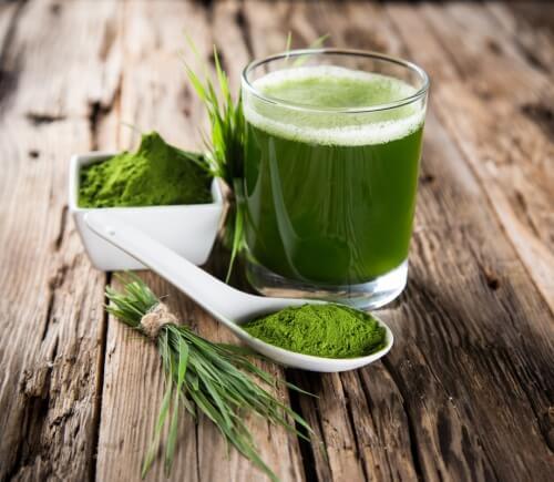 L'eau verte pour le corps.