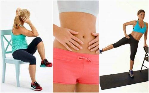 5 exercices à faire avec une chaise pour réduire la graisse abdominale