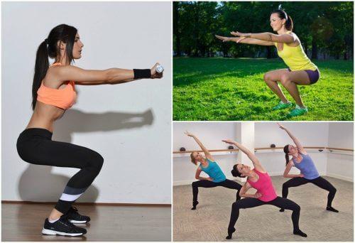 6 types de squats pour travailler vos jambes chez vous