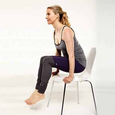 exercices avec chaise pour réduire la graisse abdominale élévation sur chaise