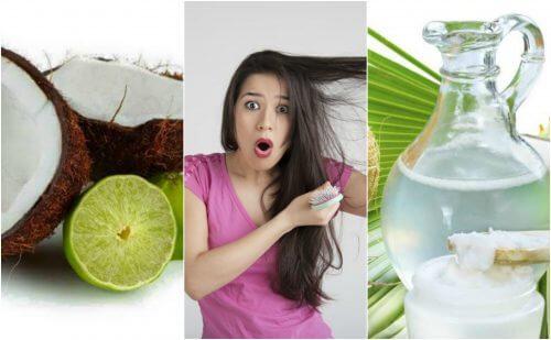 Contrôlez la chute des cheveux grâce à ce traitement à l'eau de coco et au citron