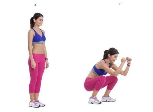 squat avec rebond