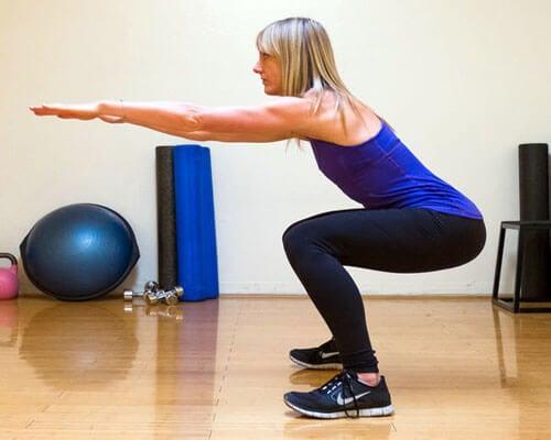 squats pour augmenter le volume des fesses