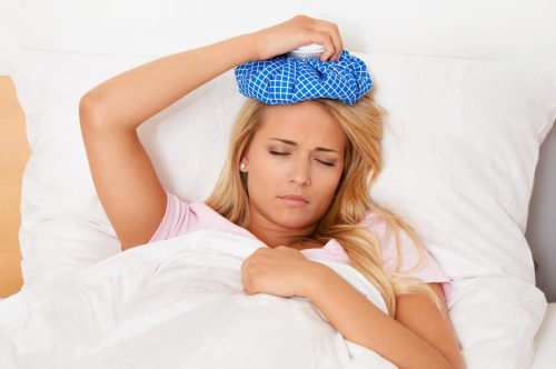 les glaçons contre le mal de tête