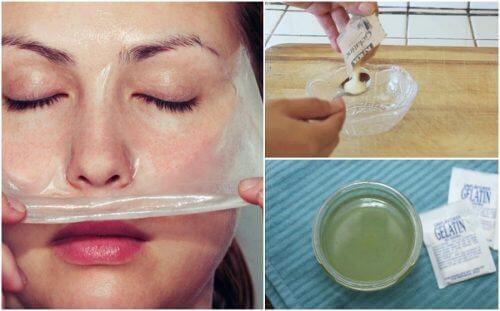 Comment préparer un masque à la gélatine et au lait contre les points noirs